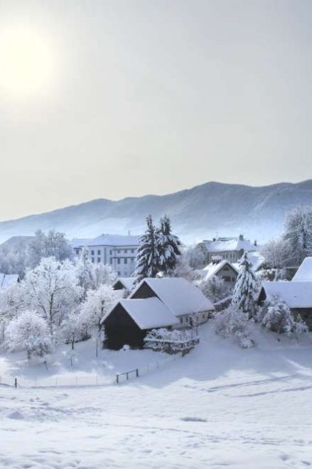 Radovljica en invierno, Eslovenia