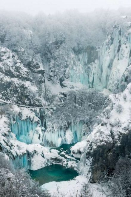 Lagos de Plitvice en invierno
