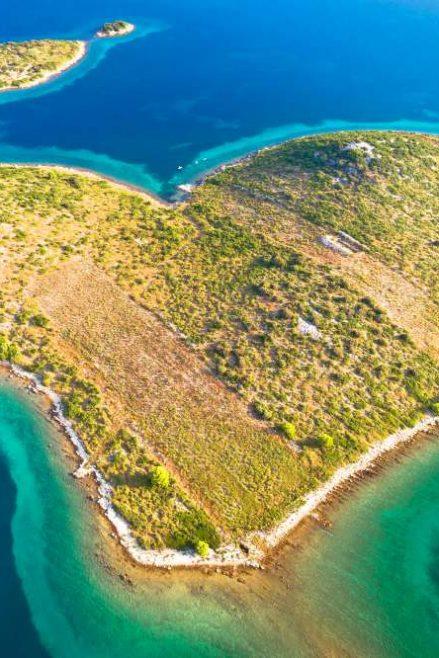 La isla en forma de corazón Croacia