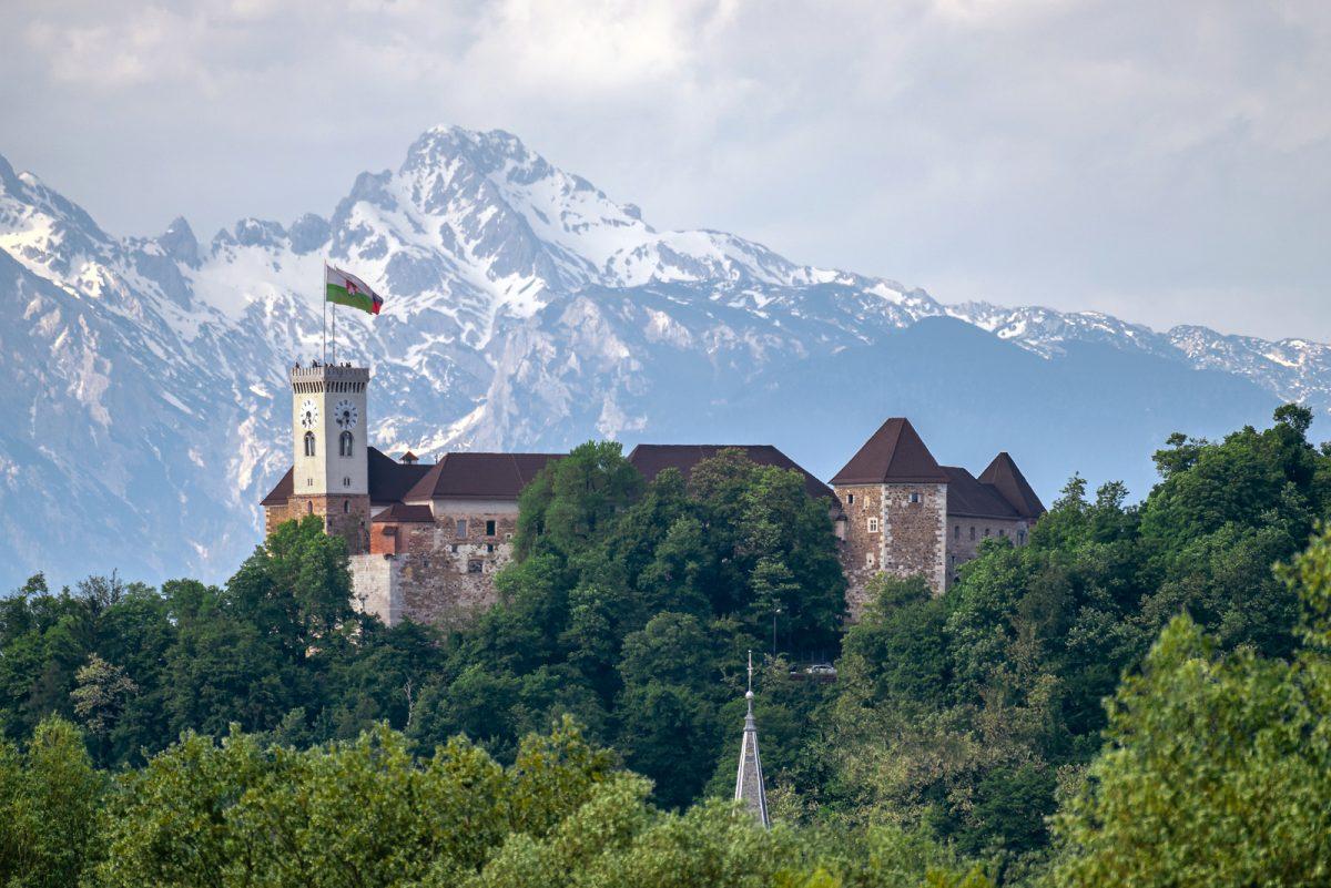 Boda en el castillo de Liubliana, Eslovenia